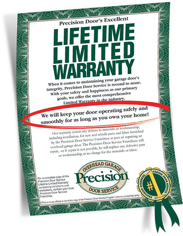 Garage Door Repair Lifetime Warranty