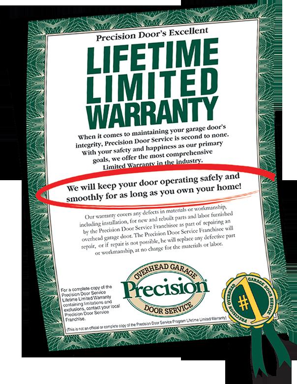 Garage Door Repair Lifetime Warranty